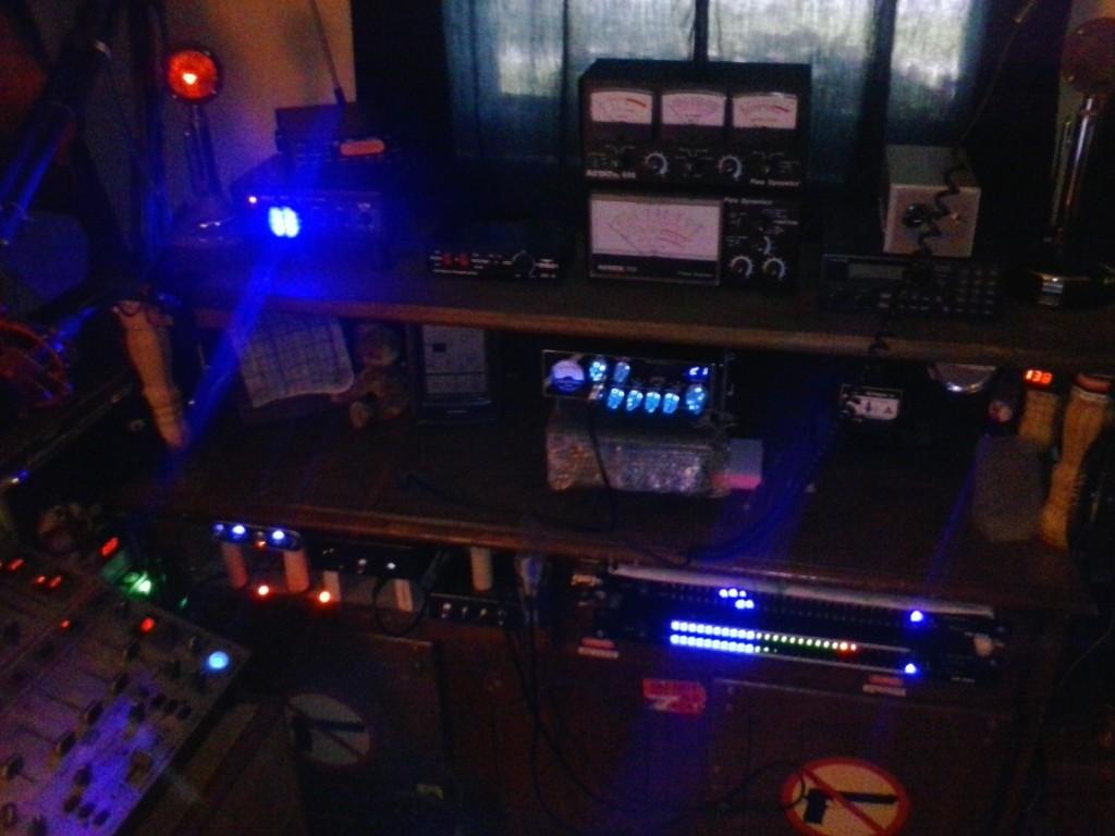 Lou's station in the dark