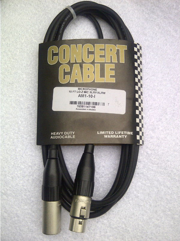 XLR Concert Cable 10 Foot